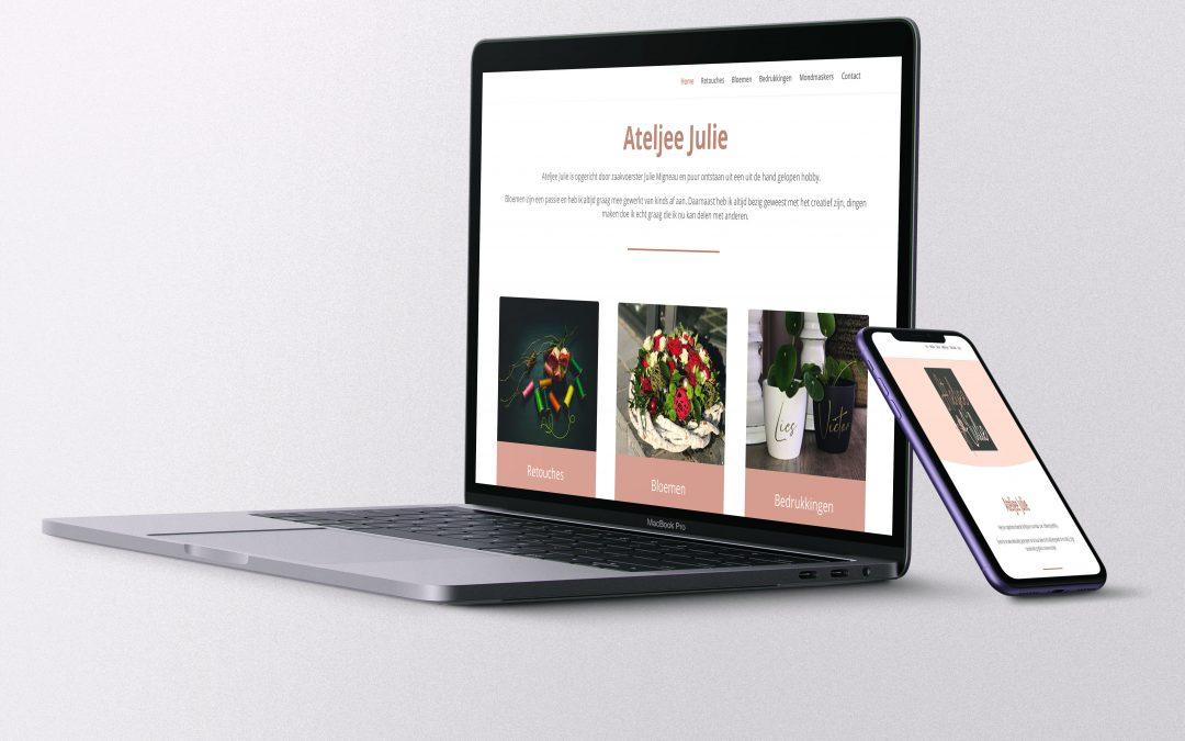Website voor Ateljee Julie