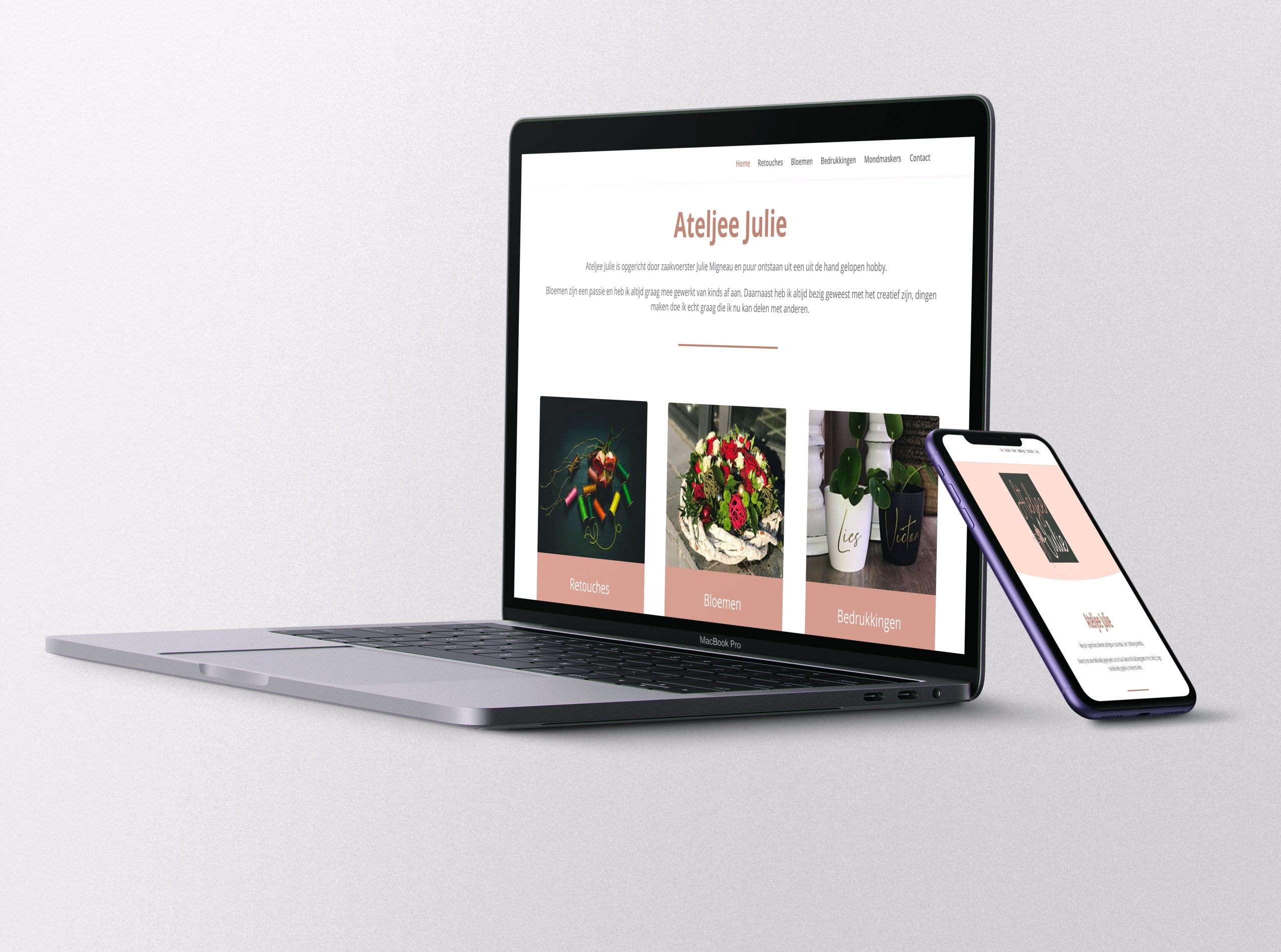 Website Ateljee Julie