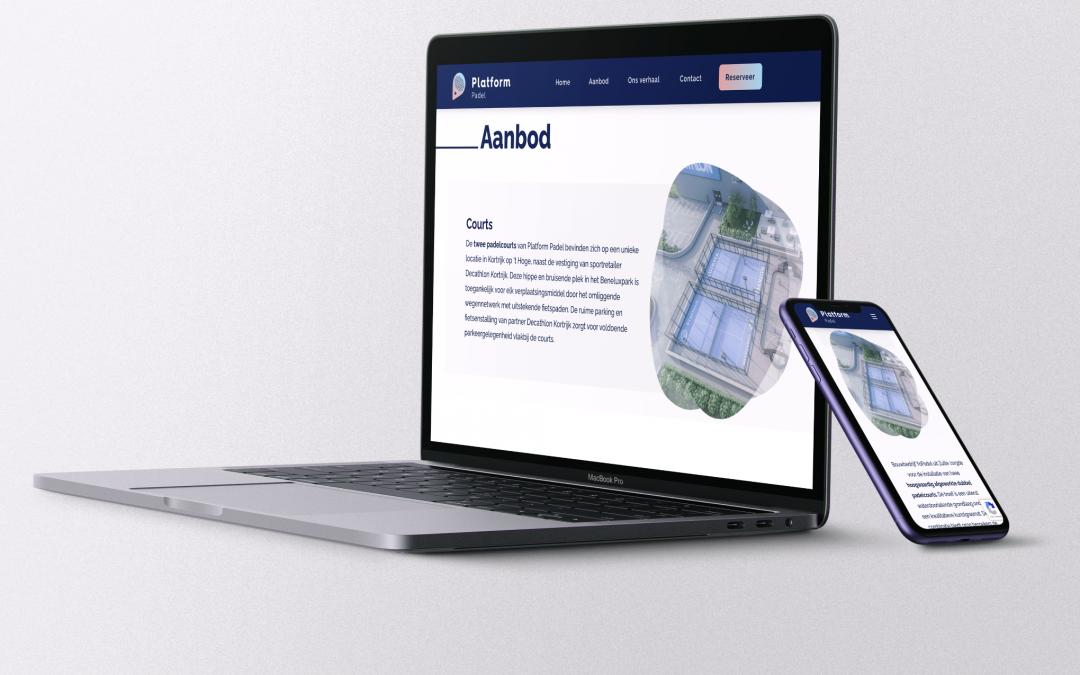 Website voor Platform Padel in Kortrijk